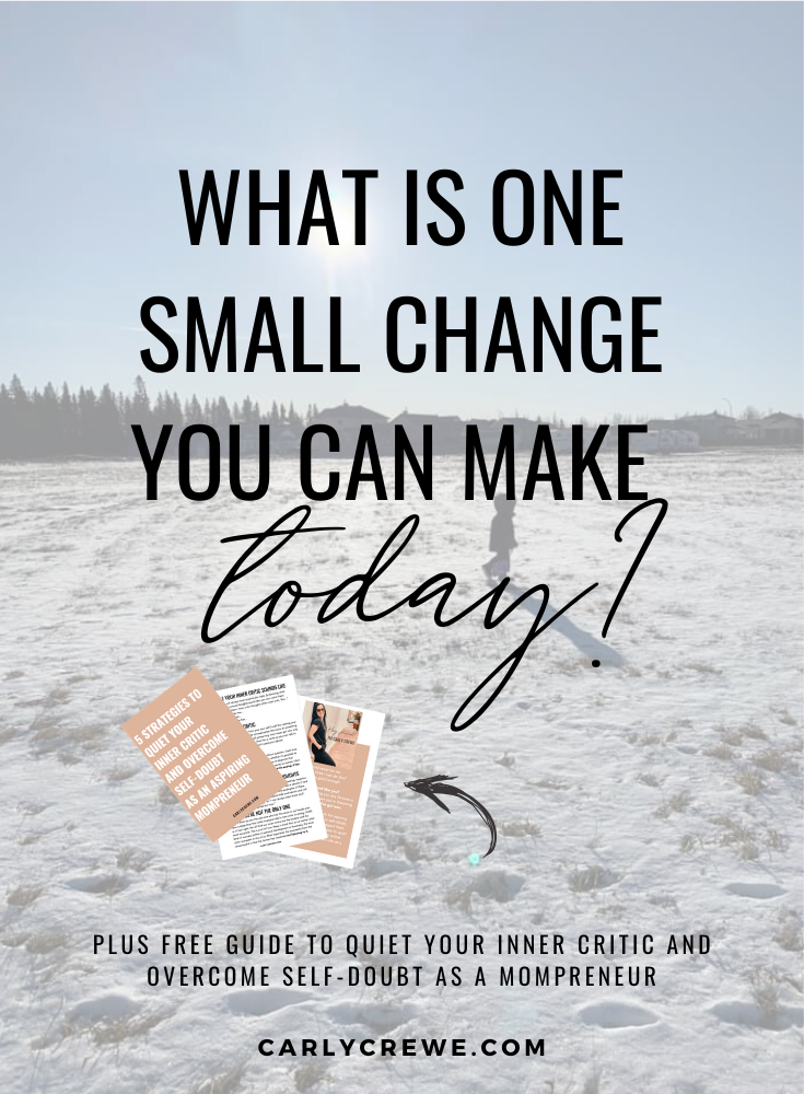 what is one small change you can make today, how to make small changes, one small step can make a huge change