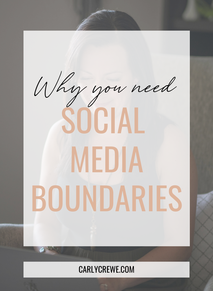 Are you addicted to social media? As a mom or mompreneur, having healthy boundaries around social media is important. Read why you need social media boundaries and how to create healthy social media boundaries.